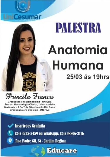 Palestra Anatomia Humana - Priscila Franco